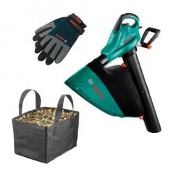 Bosch ALS 25 Elektrische Bladblazer met opvangzak en handschoenen
